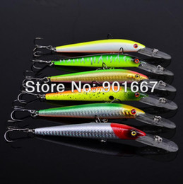 Free Shipping Lures Canada - 2014 Top Quality Fishing bait 6 color 13cm 10g bigger fishing lures 6pcs lot fishing tackle Free Shipping