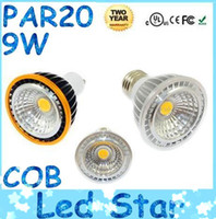 Cree 9w Led Spotlight E27 Pas Cher-CREE PAR20 E27 E26 COB Led Spotlights Ultra Bright 9W GU10 Led Lampes Ampoule Lampe Cool / Warm White 110-240V / 12V + CE ROHS CUL