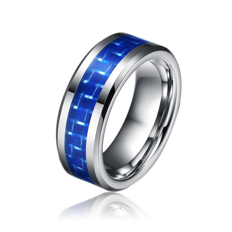 Wholesale 8mm Tungsten Carbide Ring,Comfort Fit Men Jewelry,Wedding Ring  With Blue Carbon Fiber Inlay,New Size 7 13 Tu009r Princess Cut Engagement  Ring ...