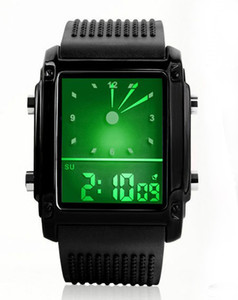 Wholesale Free shipping Sports Watch Digital Military Watches Student Fashion Alarm Multifunctional Wristwatches Quartz LED Watches