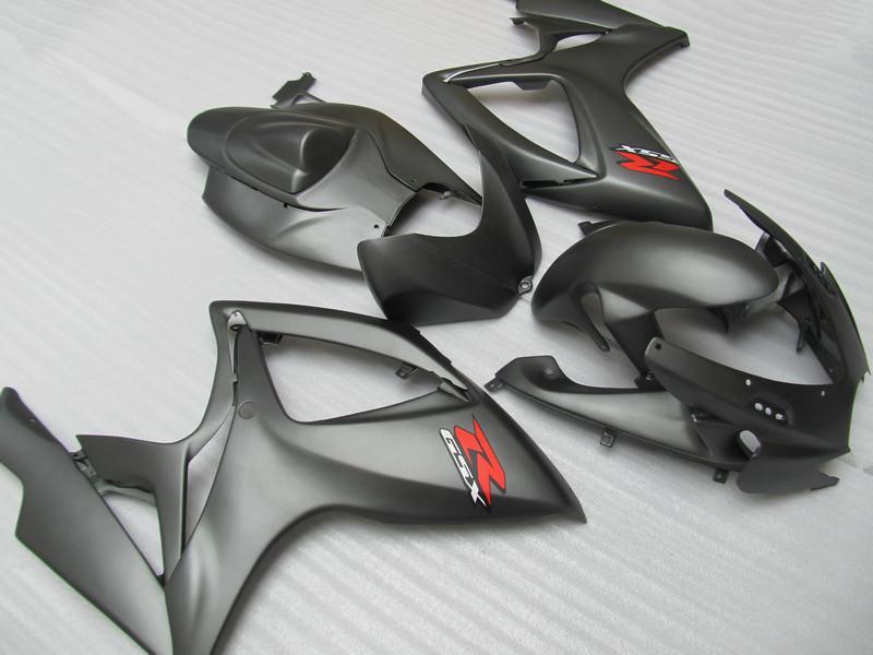 7 개 선물 매트 블랙 스즈키 GSXR600 페어링스 GSXR 600 750 2006 2007 06 07 고품질 gsxr600 gsxr750 압축 성형