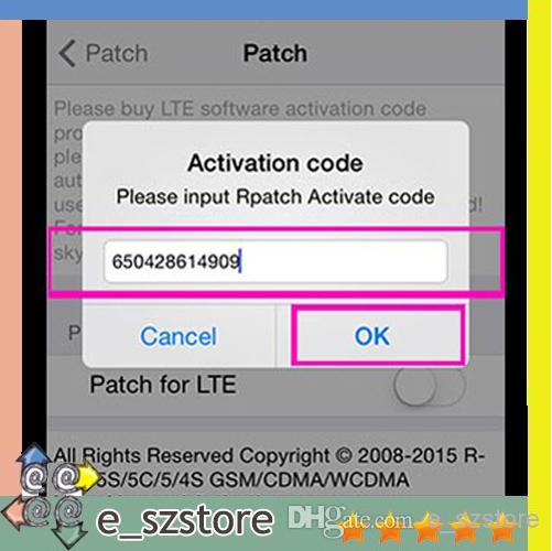 how to activate iphone 5 rpatch for i5s 5c 5 4s lte ios7 1 7 x activation code r 17060