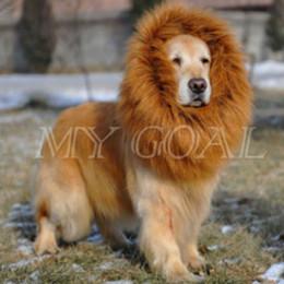 Wholesale Lion Dress Clothing - Large Pet Dog Cat Lion Wigs Mane Hair Festival Party Fancy Dress Clothes Costume