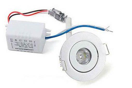 MOQ20 Lampada da incasso a soffitto a LED 1W Lampadina a incasso da 1 watt Lampadina CE ROSH Bianco caldo Lampada bianca fredda 2 anni Garanzia-Express