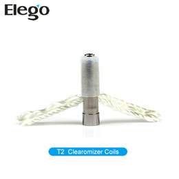 Wholesale T2 Clearomizer Wicks - Original Kanger T2 Clearomizer changeable coil Kangertech T2 Atomizer Core Kanger T2 replacement Coils with Long Wick