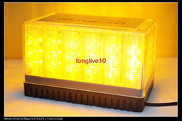 Wholesale Amber Emergency Light - Retail Cool 48 LED Top Light Car Roof Flash Strobe Emergency Amber New Arrival Free Shipping
