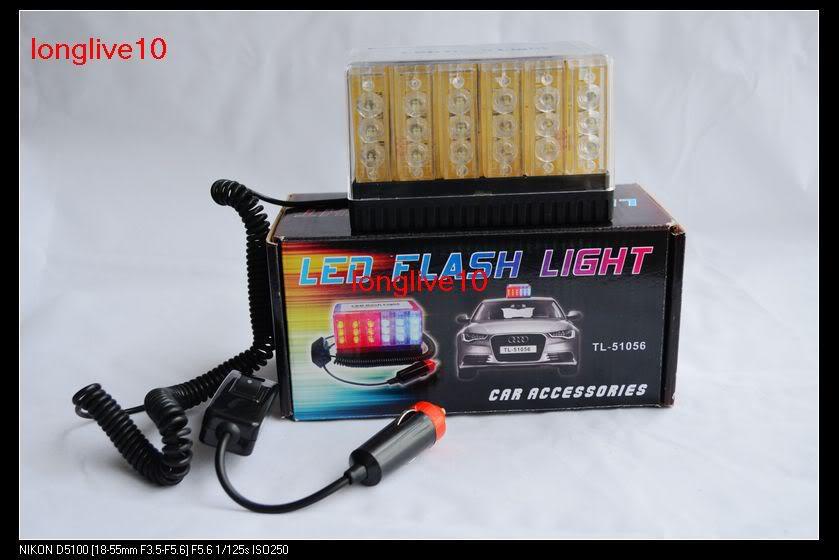 Einzelverkauf kühlen 48 LED Spitzenlicht-Auto-Dach-Blitz-Röhrenblitz-Notfall-bernsteinfarbige neue Ankunft ab Freies Verschiffen