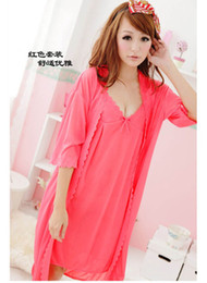 Wholesale Cardigan Pajamas - The temptation to dress sexy lingerie sexy pajamas pink cardigan suits transparent skirt bandage