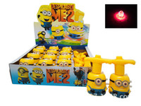 Wholesale Little People Toys - 1404L 2014 explosion models Thief Daddy colorful flash gyro electric toy gyroscope gyro little yellow people 37768002407