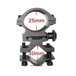 Umfangshalterungen online-25mm Ring Montagesockel 20mm Schiene für Taschenlampe Laser Torch Bracket