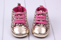 Wholesale Baby Leopard First Walking Shoes - Two colors Baby First Walker Shoes Toddler Casual Shoes First Walking Shoes Infant Leopard Shoes Toddlers Shoes