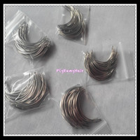 weaving thread And needles seting black intensity - 50units mm C type weaving needles with Roll Black Thread of Weaving High Intensity Polyamide Nylon Thread Hair Extension Tools