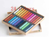 Wholesale Temporary Hair Color Pastels - 24 Colors Fashion Hot Fast Non-toxic Temporary Pastel Hair Dye Color Chalk 2pcs