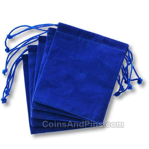 50 Pcs Blue Velvet Bag Velour Gift Bags Jewelry Pouches 7 X 9 cm (Brown/Red/Black/Wine/Ivory)