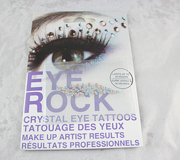 Autocollants Pour Les Yeux Pas Cher-EyeShadow autocollant maquillage coloré Body Art Party EyeLiner temporaire autocollants de tatouage eye rock usine directe d'approvisionnement
