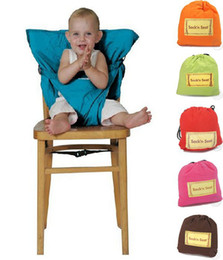Wholesale Baby Chair Belt - 2016 New Portable Baby Kids High Chair Belt Seat Infant Safety Comfortable Easy To Carry Baby Eat chair Seat belt 9Colors choose free