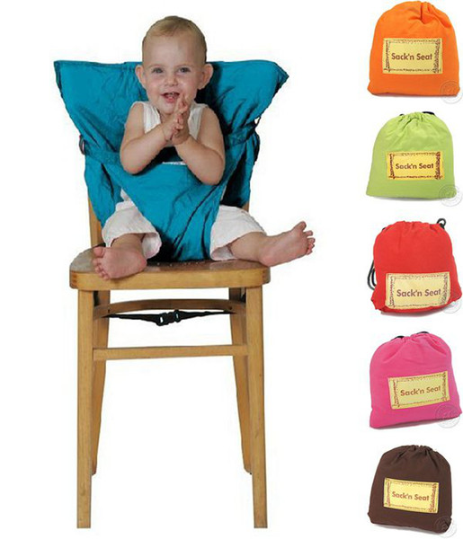 best selling 2016 New Portable Baby Kids High Chair Belt Seat Infant Safety Comfortable Easy To Carry Baby Eat chair Seat belt 9Colors choose free