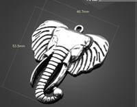 Wholesale Elephant Heads - Sale! New 13053 vintga Elephant head Charms Necklace Pendants earrings Pendants DIY Charms Jewelry Findings & Components for free shipping