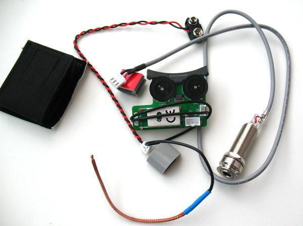 Fishman Sonitone undersaddle recogida W / Sistema de preamplificador bordo para guitarra acústica