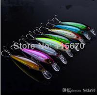 minnow balıkçılık cazibesi 11cm toptan satış-Toptan Satış - 16pc En Kaliteli 8 renk balıkçılık 11CM / 13.4G Minnow Lures, Crank Lures balıkçılık lures balıkçılık bait ücretsiz kargo