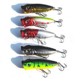 2020 top richiami 2014 Hot 50 pz / lotto esca per la pesca che vende Fishing Lure 5 colori 6.5 cm / 13g top acqua mago attrezzatura da pesca, Popper Lure libera la nave top richiami economici