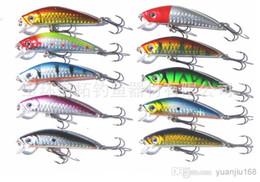 Japão atacado ganchos de pesca on-line-Venda por atacado - Novo 70mm 2 ganchos Minnow Pesca isca dura Iscas equipamento de pesca, gancho iscas 7C 8.1G Japão gancho 8pcs frete grátis