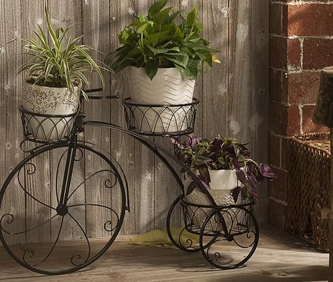 Best Plant Stand Flowers Pot Bike Outdoor Bicycle Home