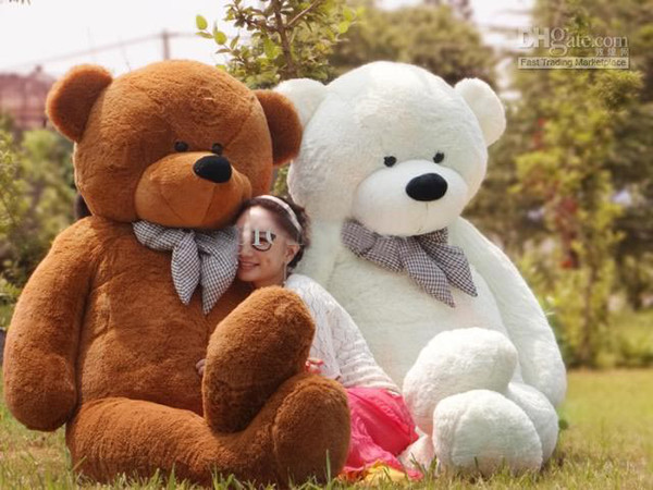 "EMS free shipping 6 FEET TEDDY BEAR STUFFED LIGHT BROWN GIANT JUMBO 72"" size:180cm"