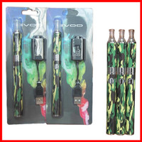 Wholesale Evod Set Cigarettes - 1 set Retail eVod Blister Kit E Cigarette EVOD MT3 Kits Camouflage MT3 Atomizer Clearomizers 1100mAh EVOD New Electronic Cigarette