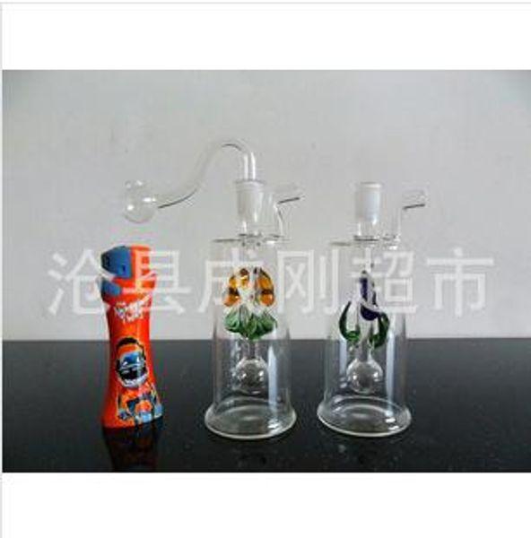 Wholesale Freies Verschiffen blumentopf glas wasserpfeife glas filter krug