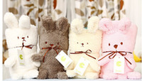 courtepointes d'animaux achat en gros de-Bébé Animal Couverture de Bande Dessinée Forme Bébé Couverture Couette Pour Les Serviettes de bain Infantile peignoir serviette