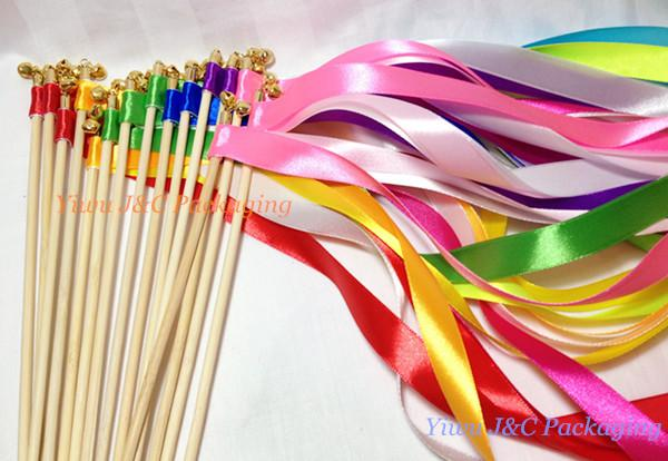 of wedding ribbon wands wedding confetti stream ribbon