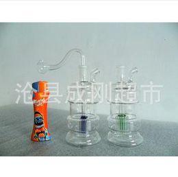 Wholesale Glass Jugs - Shipping three double filter glass hookah pot glass filter jug