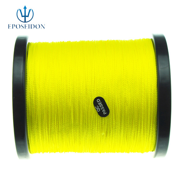 No.1 Quality&Service 4 Strand Yellow Color 500M Japan Multifilament Super Strong 100% PE Braid Fishing Line 16LB