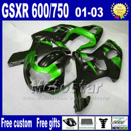 gsx r fairing NZ - Motorcycle fairings for SUZUKI K1 GSXR 600 750 2001 2002 2003 GSXR600 GSXR750 01-03 GSX R 600 750 ABS Fairing kitS SF49