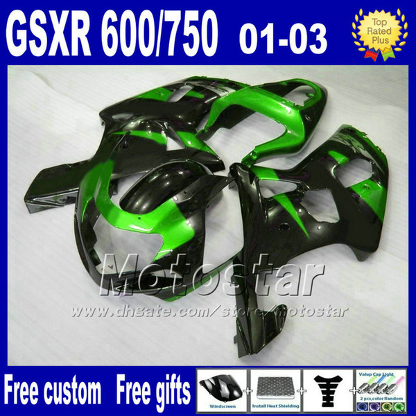 Motorcycle fairings for SUZUKI K1 GSXR 600 750 2001 2002 2003 GSXR600 GSXR750 01-03 GSX R 600 750 ABS Fairing kitS SF49