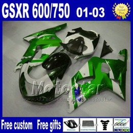 gsx r fairing NZ - Motorcycle fairings for SUZUKI K1 GSXR 600 750 2001 2002 2003 GSXR600 GSXR750 01-03 GSX R 600 750 aftermarket Fairing kit SF55+7 gifts