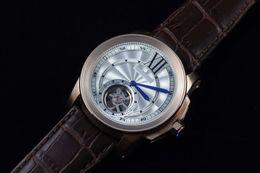 2019 спортивные наручные часы белые Роскошные розовое золото швейцарский бренд Мужские спортивные наручные часы мода Калибр белый циферблат натуральная кожа мужчины автоматические механические часы турбийон дешево спортивные наручные часы белые