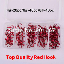 Wholesale Hooks Baitholder - Baitholder!100Pcs Box fishing tackle 4#-20pc+6#-40pc+8#-40pc Fishing Hooks High Qulity Treble Hooks Free Shipping