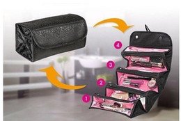 Wholesale Wholesale Jewellery Roll - Roll N Go Cosmetics & Toiletries Jewellery Travel Bag 4 Zippered