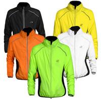 rüzgar forması toptan satış-WOLFBIKE bisiklet formaları uzun kollu tur de France bisiklet bisiklet erkekler mont rüzgar yağmur su geçirmez açık spor nefes alabilen giyim wft001