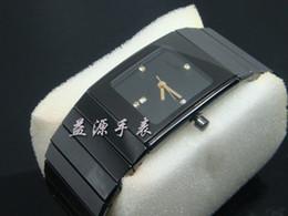 Wholesale Antique Calendar - Famous Brand Swiss Luxury Men Antique Qaurtz Male Watches Fashion Square Black Ceramic Watch Band Date Casual Mens Dress Wristwatches Sport