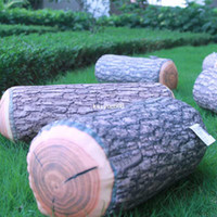 Wholesale 1PCS Wooden Design Natural Log Throw Pillow Car Camping Home Office Soft Cushion Pad