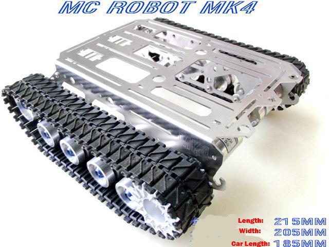 Metal Robot Chassis Crawler Pedohilic Barrowload Tracking Car Wall-E Tank  Raspberry Pie Pi Rpi Pcduino Patrol Robot Diy Kit Toy