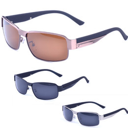 Wholesale High End Sunglasses - 2017 New men Fashion High-end polarized driving sunglasses summer Sports goggles cool sun glasses Free shipping + box + cloth YJ2042 hot