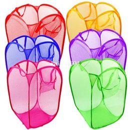 Wholesale Pop Hamper - Pop Up Mesh Wash Laundry Hamper Tidy Clothes Basket Bin Foldable Storage A1095