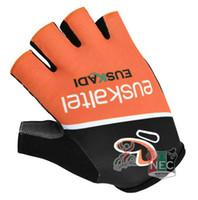 Wholesale Euskaltel Euskadi - Unisex Cycling Gloves 2014 EUSKALTEL EUSKADI gloves Bike bicycles gloves with Gel pads half finger gloves for Tour of France