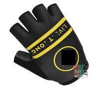 Wholesale Half Live - Unisex Cycling Gloves 2014 LIVE & STRONG Bike bicycles gloves with Gel pads half finger gloves for Tour of France