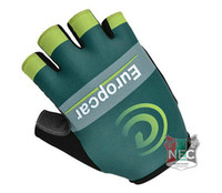 Wholesale Europcar Cycling - Unisex Cycling Gloves 2014 EUROPCAR GREEN Bike bicycles gloves with Gel pads half finger gloves for Tour of France