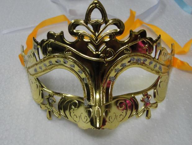 Mens Kadın Maske Cadılar Bayramı Masquerade Maskeleri Mardi Gras Venedik Dans Partisi Yüz altın parlayan kaplama Maske 6 renkler